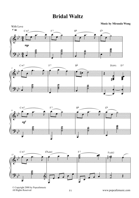 Bridal Waltz - Wedding Piano Music