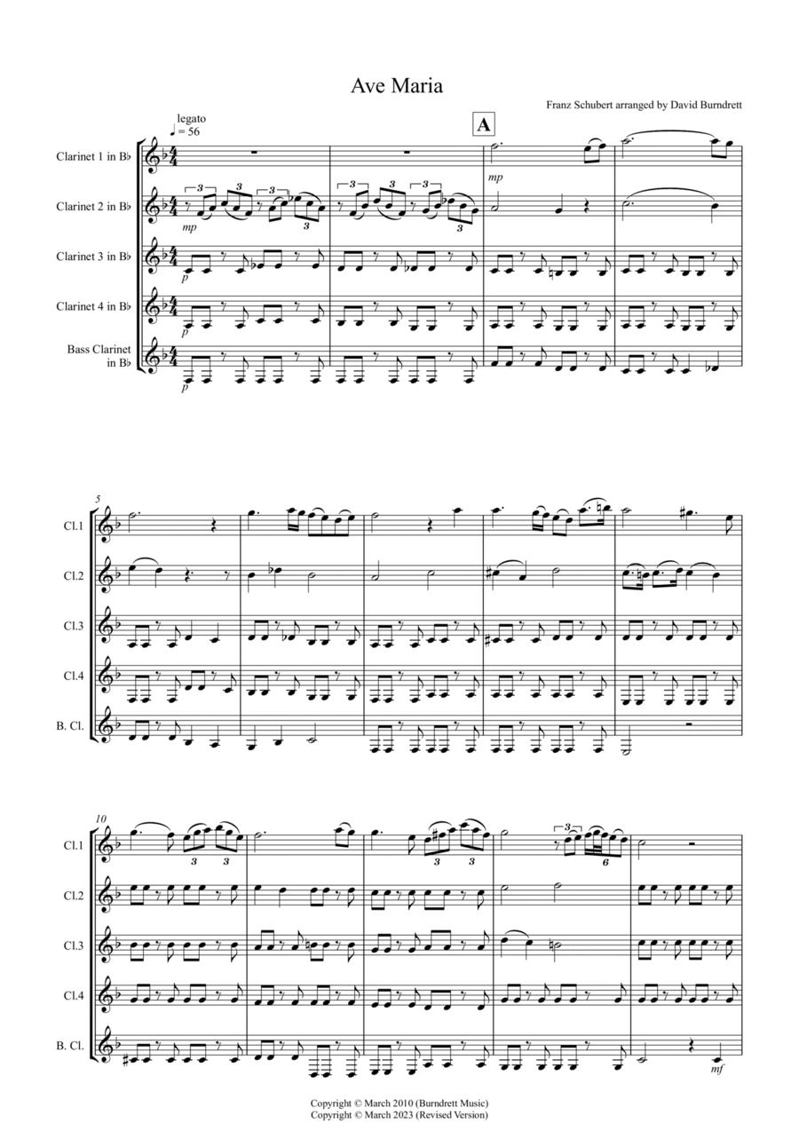 Ave Maria for Clarinet Quintet