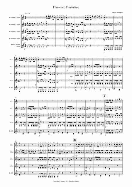 flamenco Fantastico for Clarinet Quintet