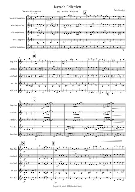 Burnie's Saxophone Quintet Collection