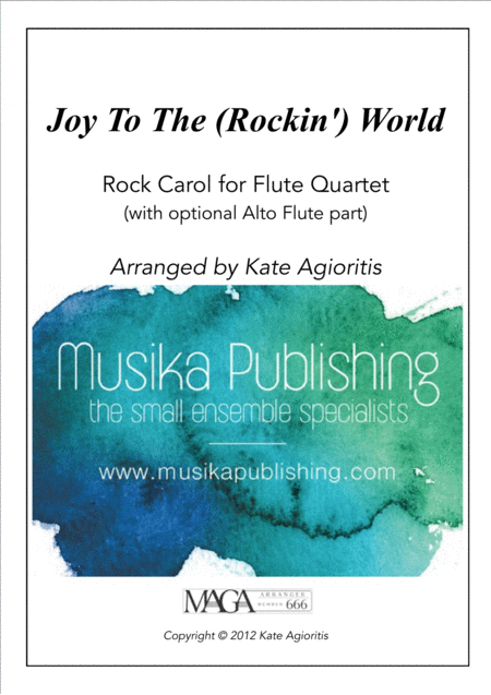 Joy to the World - Rock Carol for Flute Quartet