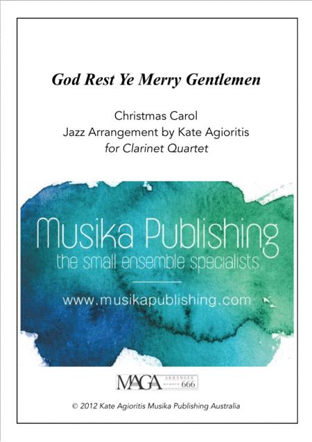 God Rest Ye Merry Gentlemen - Jazz Carol for Clarinet Quartet