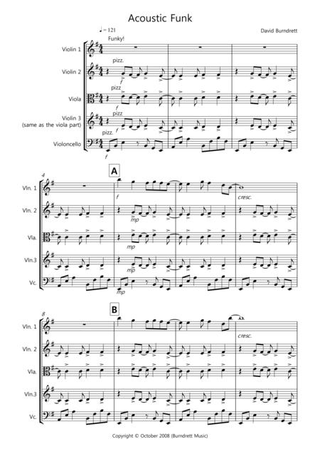Acoustic Funk for String Quartet