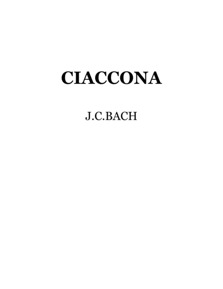 Bach-Vayner, Chaconne for string quartet, viola