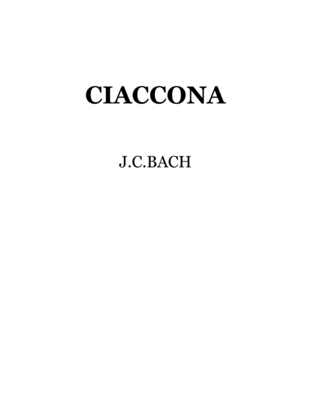 Bach-Vayner, Chaconne for string quartet , cello