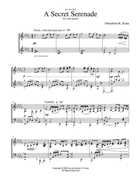 A Secret Serenade