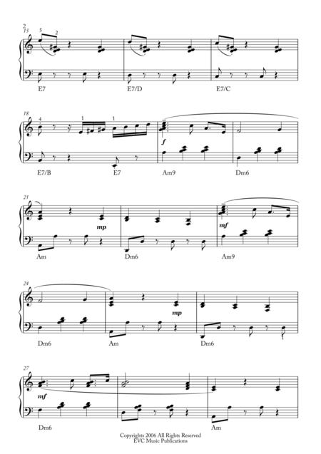 Take Three, Jazz Waltz, piano intermediate