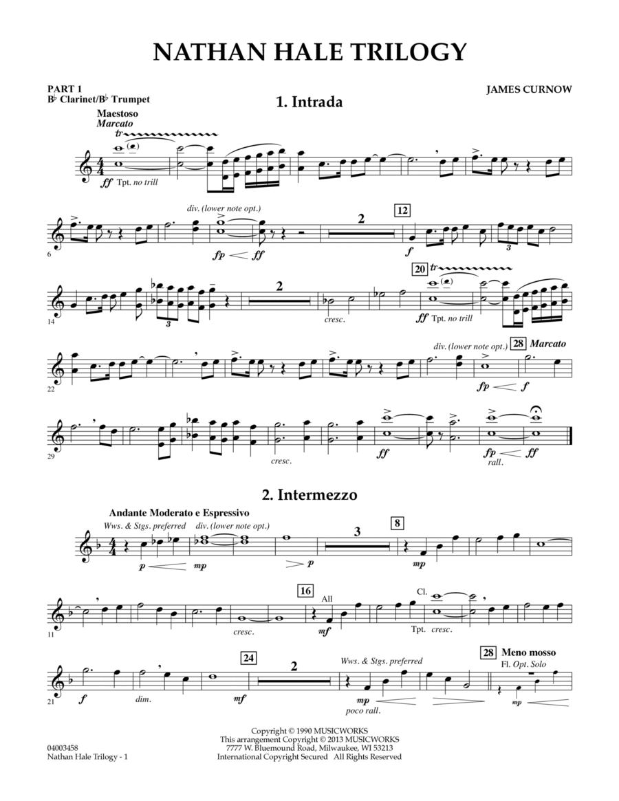 Nathan Hale Trilogy - Pt.1 - Bb Clarinet/Bb Trumpet