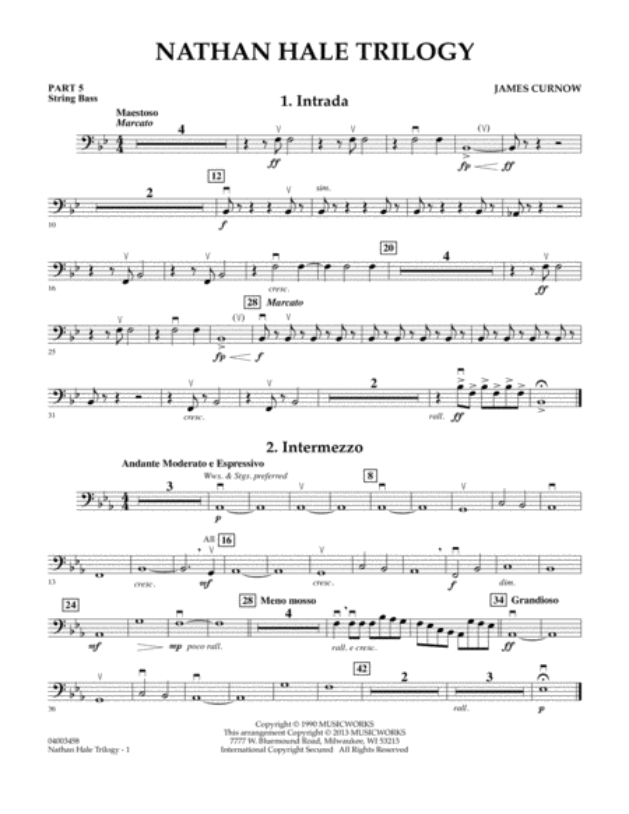 Nathan Hale Trilogy - Pt.5 - String/Electric Bass