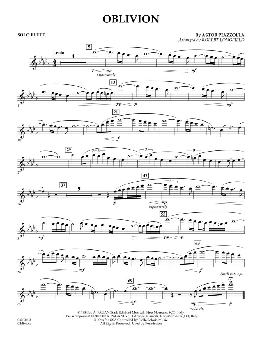 Oblivion - Solo Flute