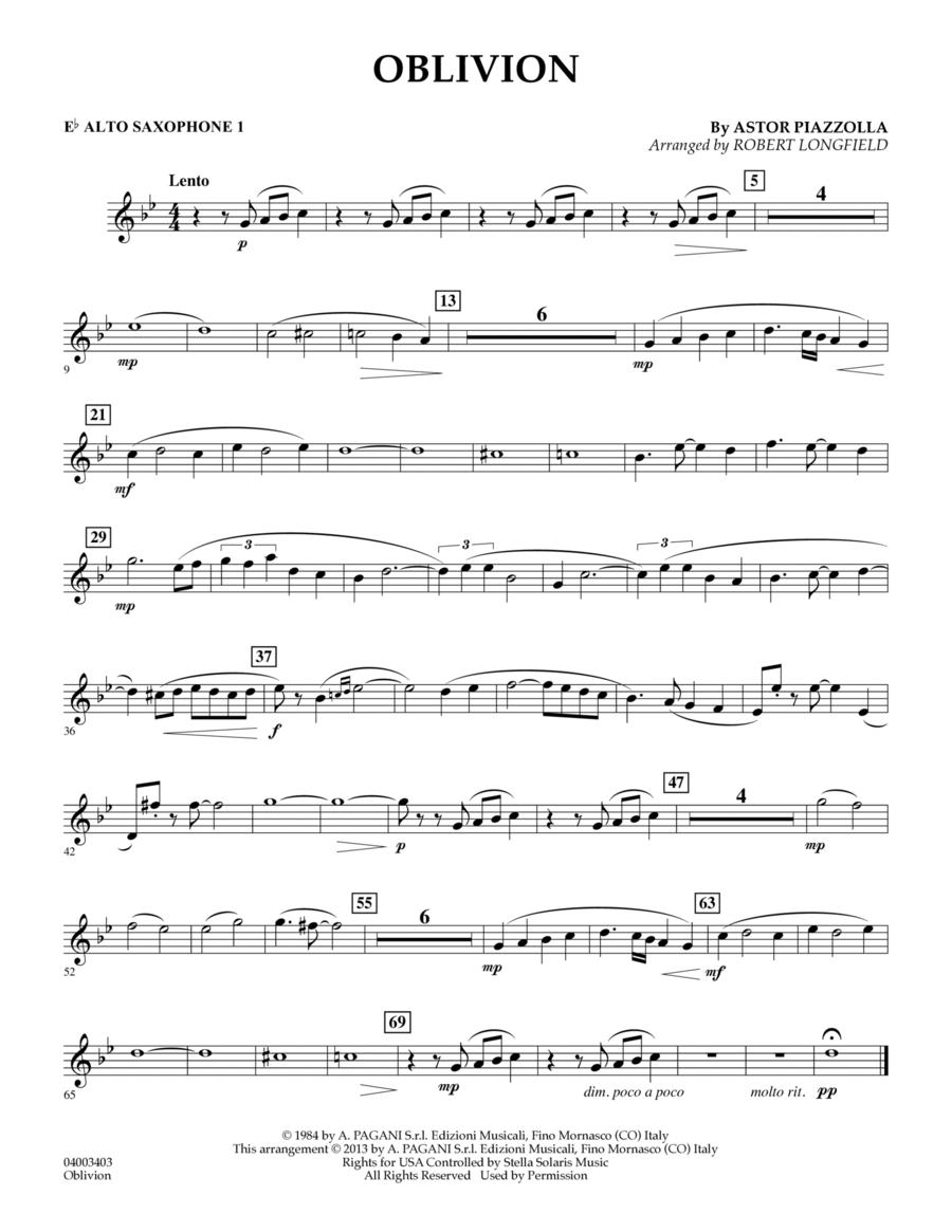 Oblivion - Eb Alto Saxophone 1