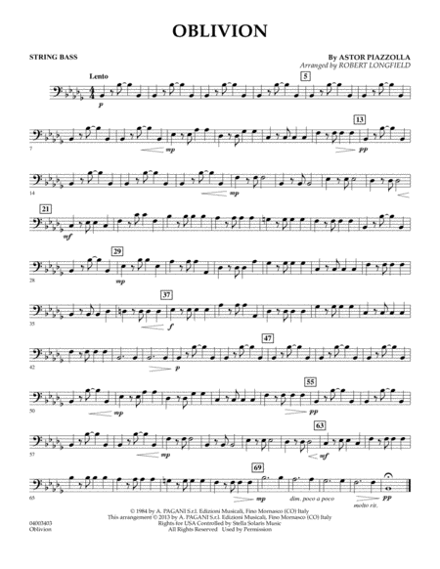Oblivion - String Bass