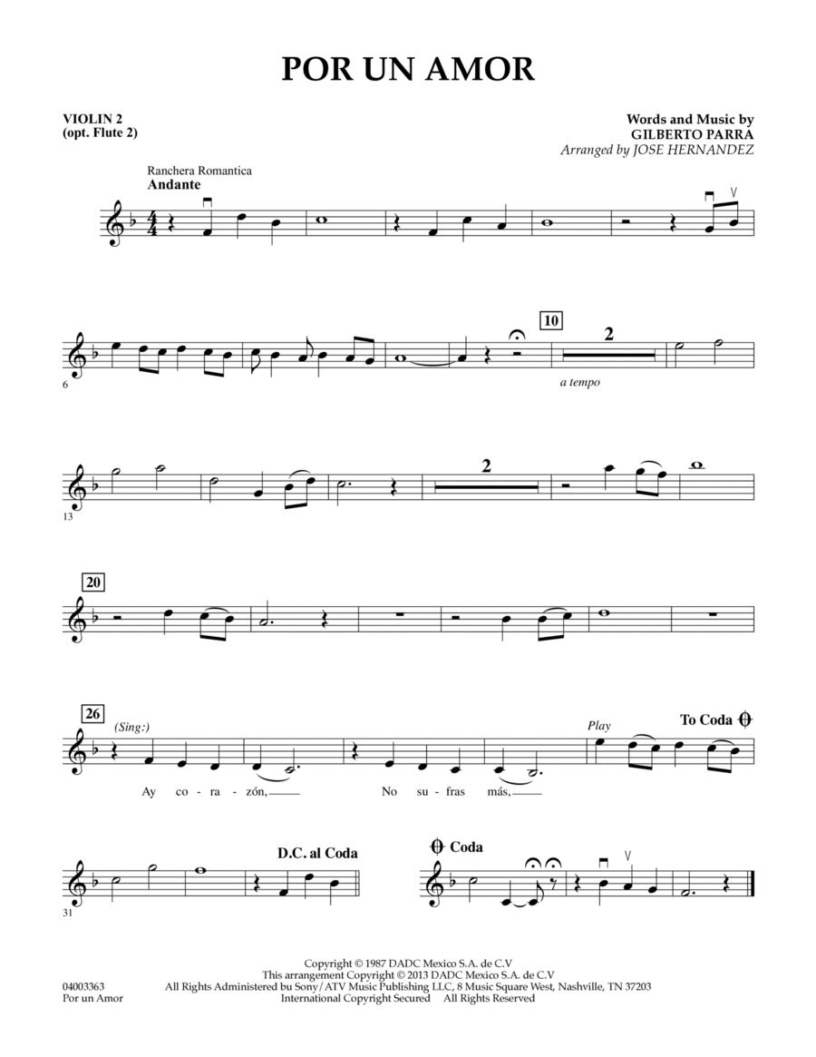 Por Un Amor - Violin 2