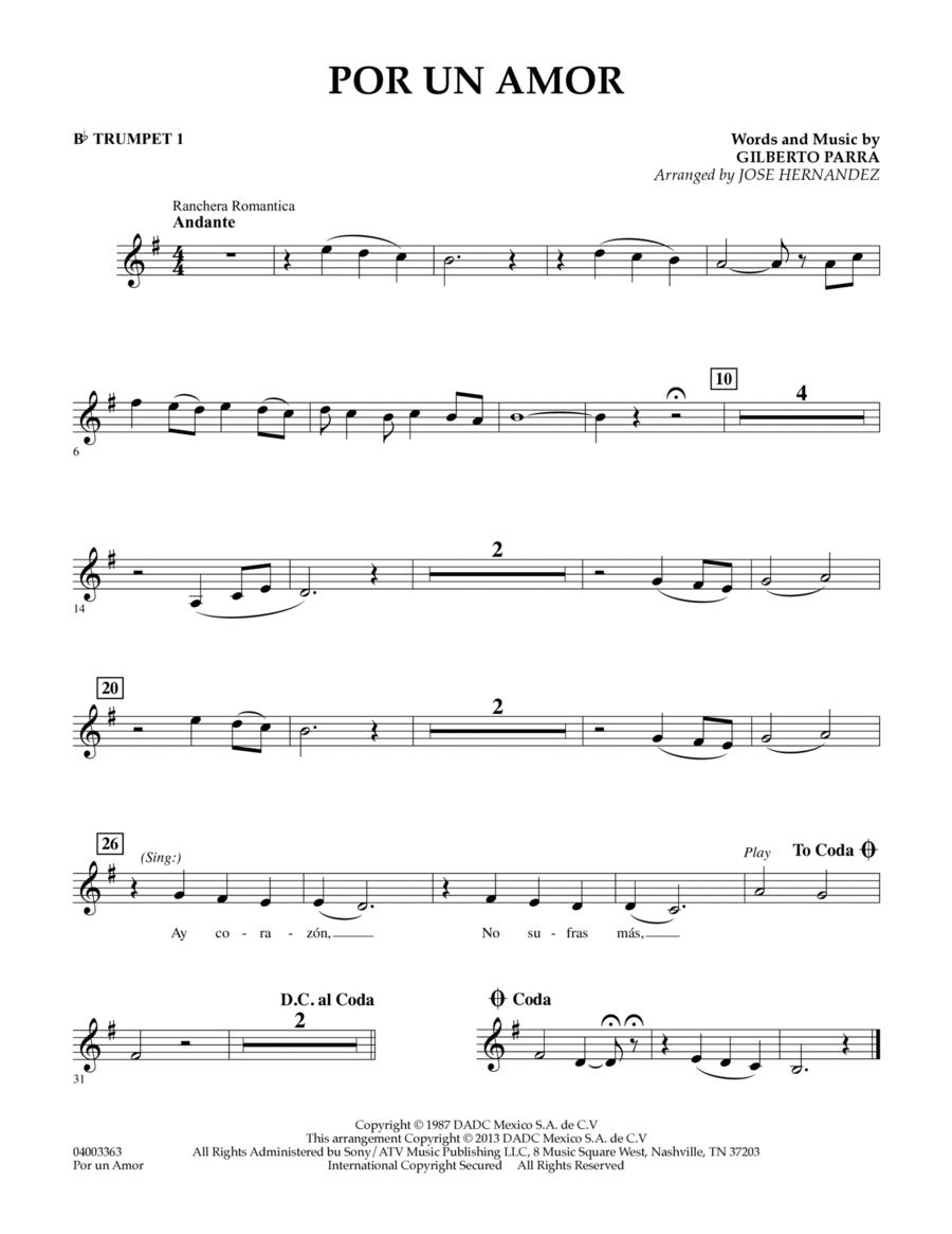 Por Un Amor - Bb Trumpet 1