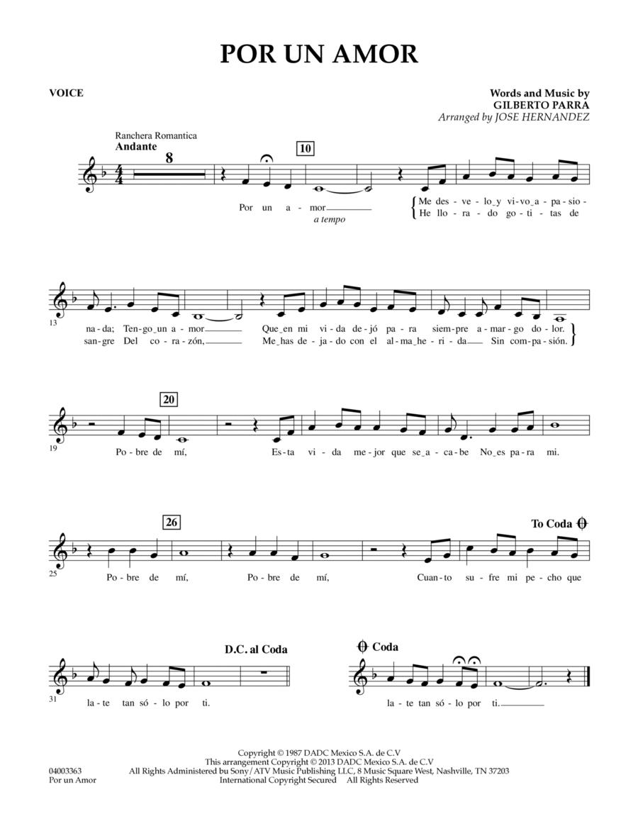 Por Un Amor - Vocal