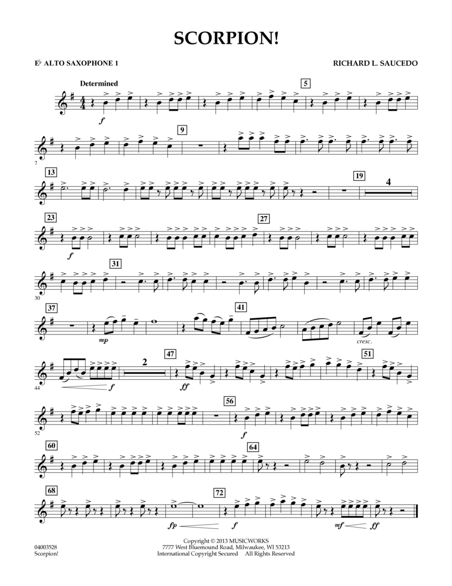 Scorpion! - Eb Alto Saxophone 1