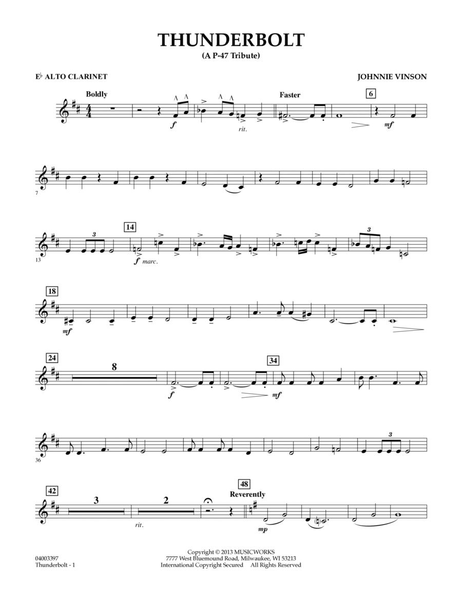 Thunderbolt (A P-47 Tribute) - Eb Alto Clarinet