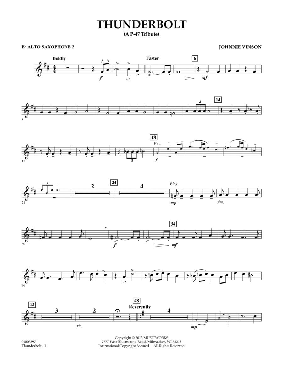 Thunderbolt (A P-47 Tribute) - Eb Alto Saxophone 2