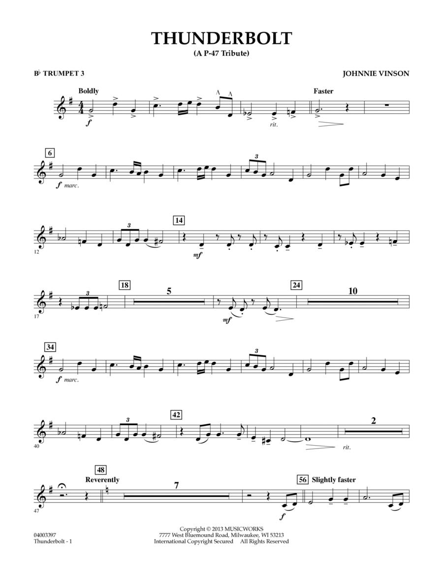 Thunderbolt (A P-47 Tribute) - Bb Trumpet 3