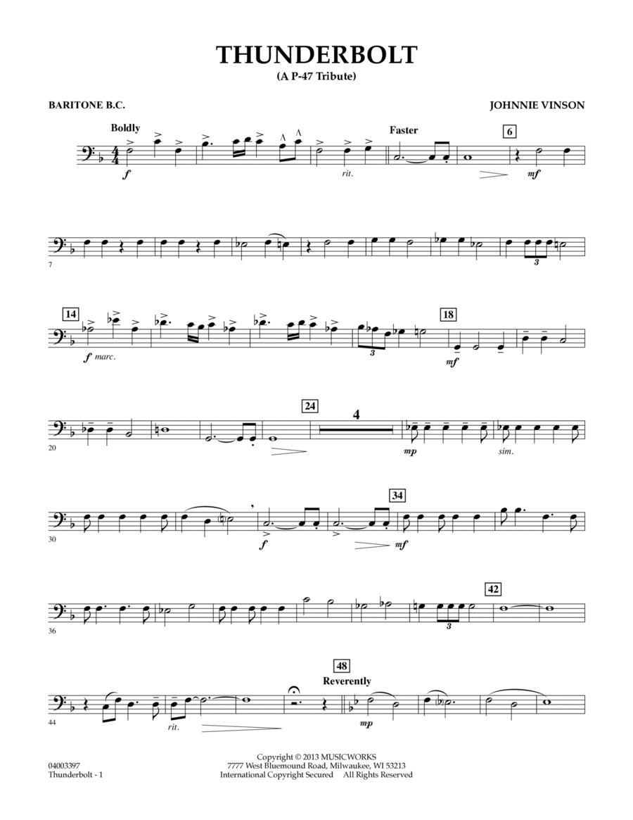 Thunderbolt (A P-47 Tribute) - Baritone B.C.