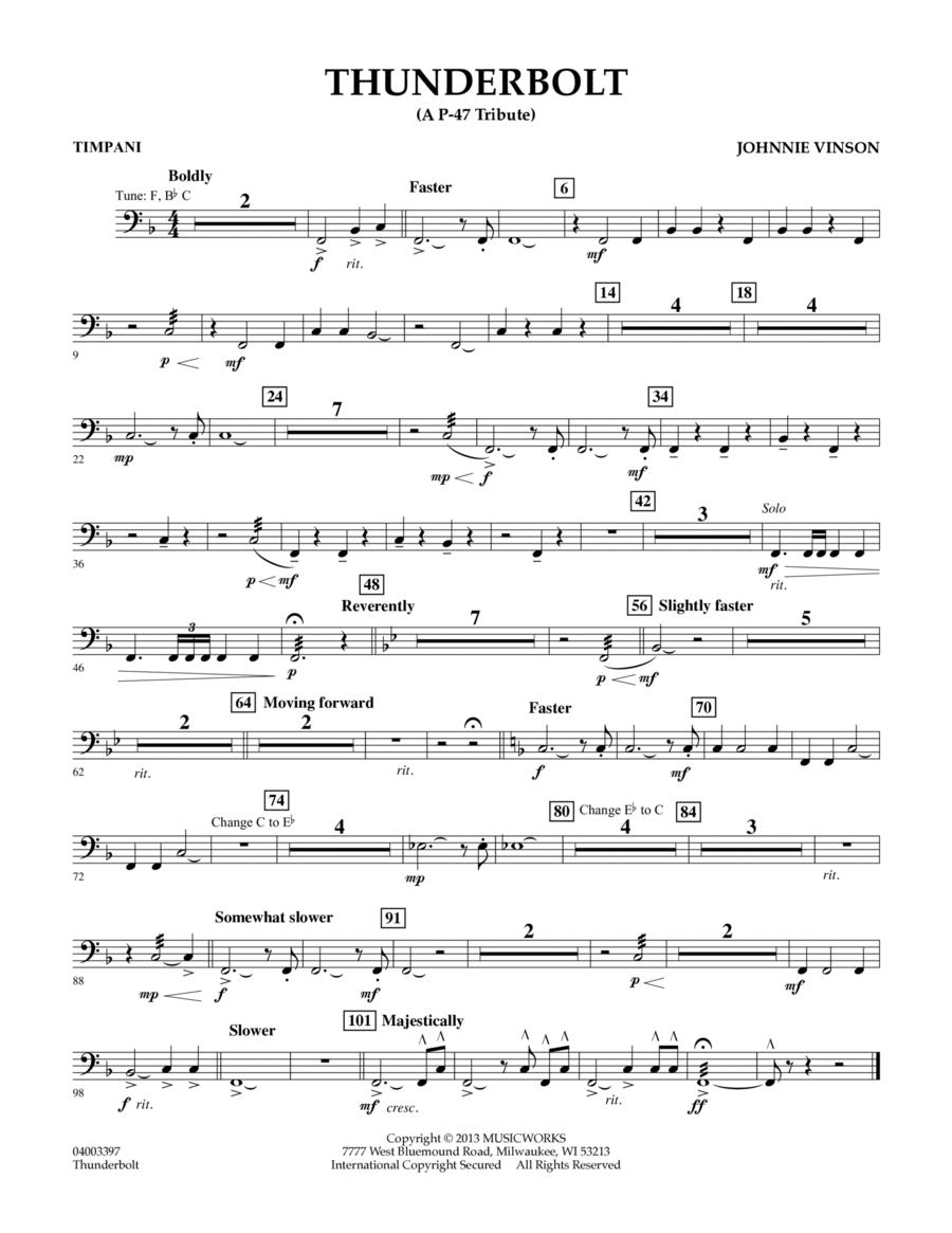 Thunderbolt (A P-47 Tribute) - Timpani