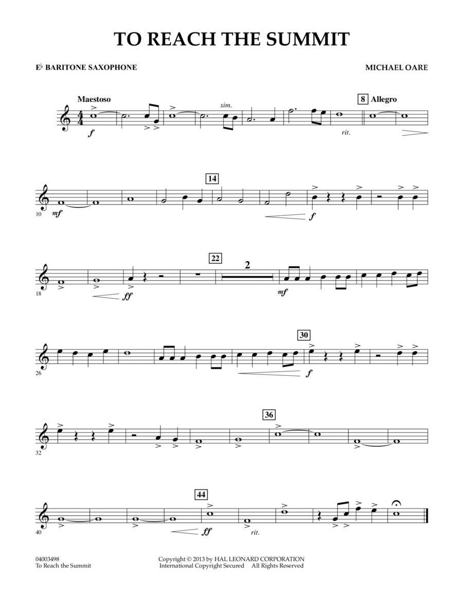 To Reach the Summit - Eb Baritone Saxophone