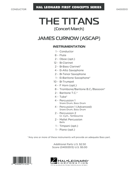 The Titans (Concert March) - Conductor Score (Full Score)