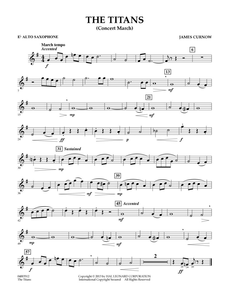 The Titans (Concert March) - Eb Alto Saxophone