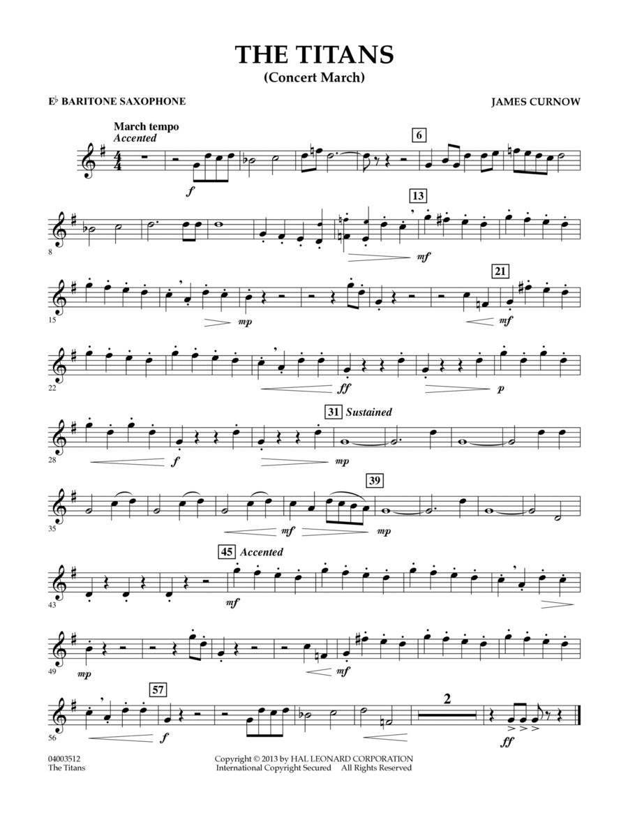 The Titans (Concert March) - Eb Baritone Saxophone