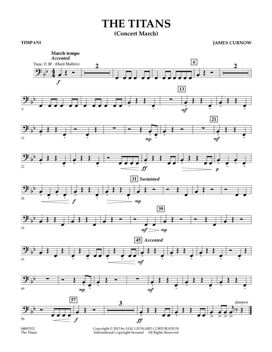 The Titans (Concert March) - Timpani