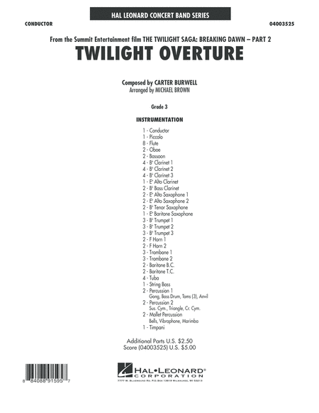 Twilight Overture (from The Twilight Saga: Breaking Dawn