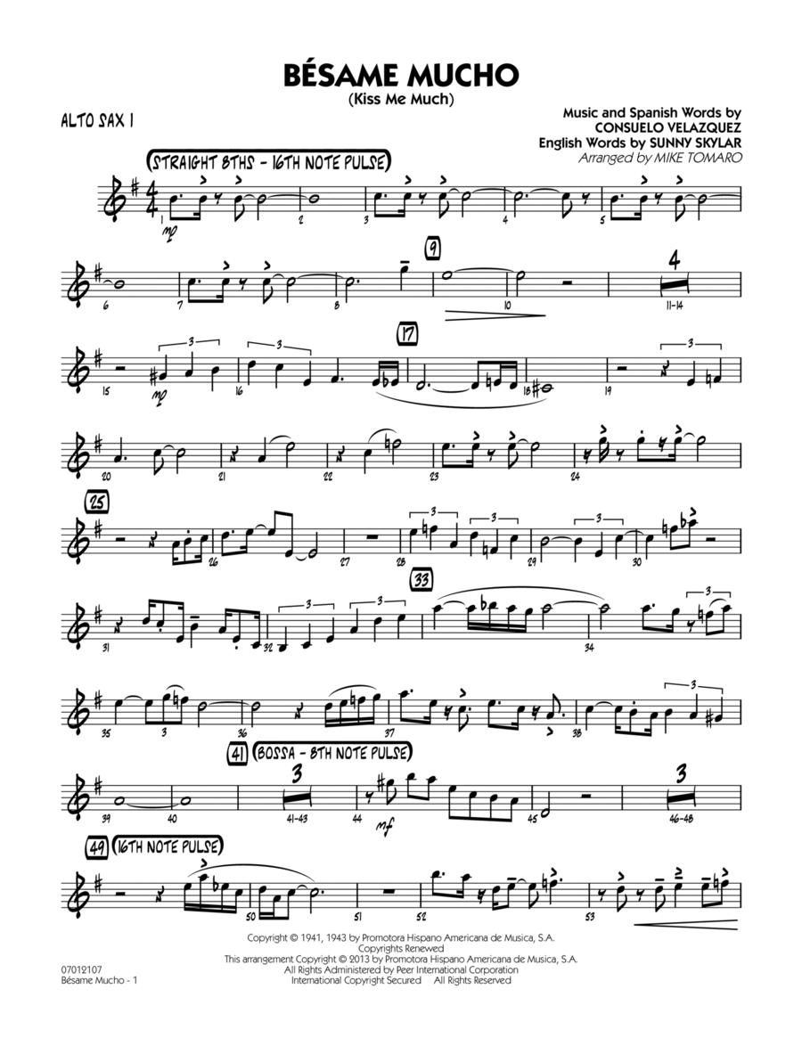 Besame Mucho (Kiss Me Much) - Alto Sax 1