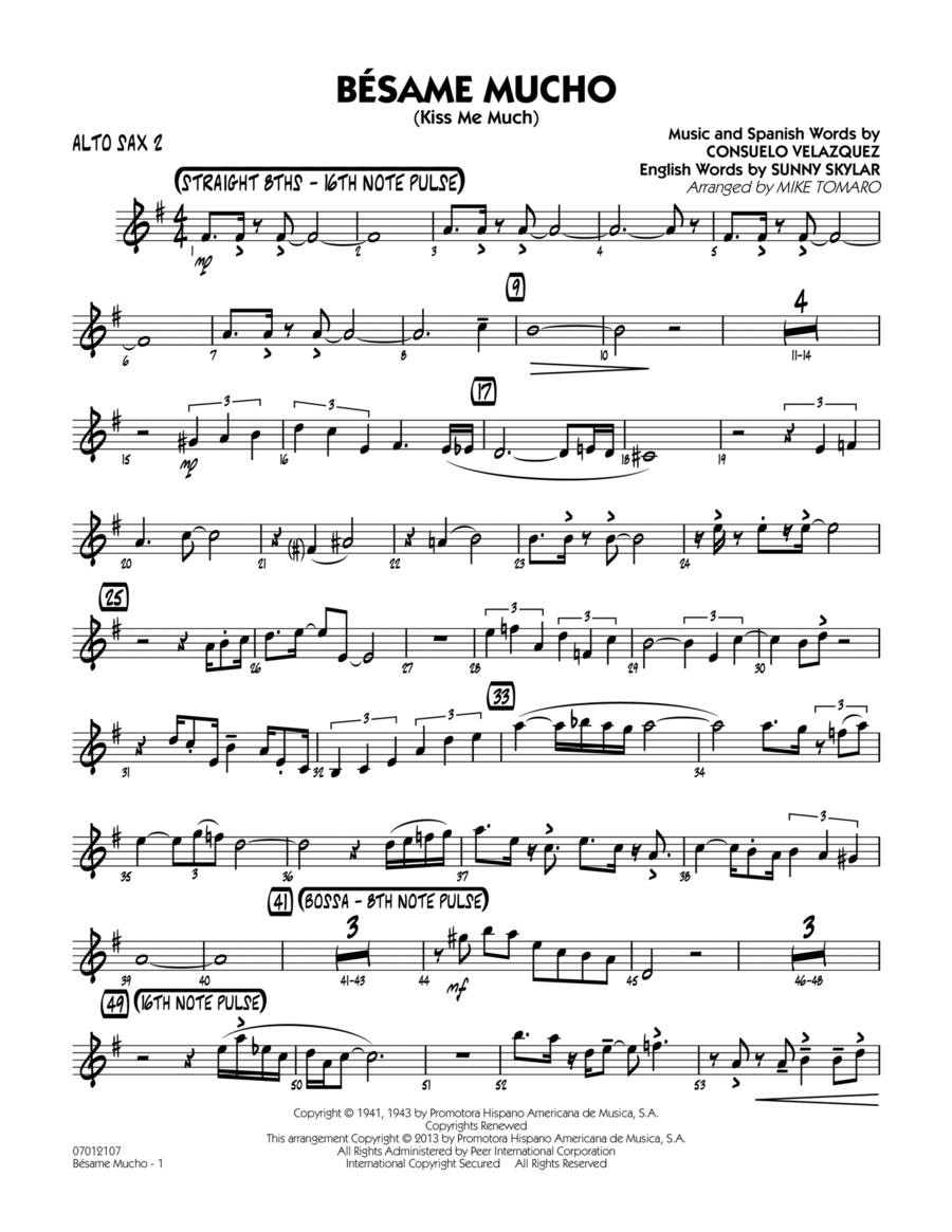 Besame Mucho (Kiss Me Much) - Alto Sax 2