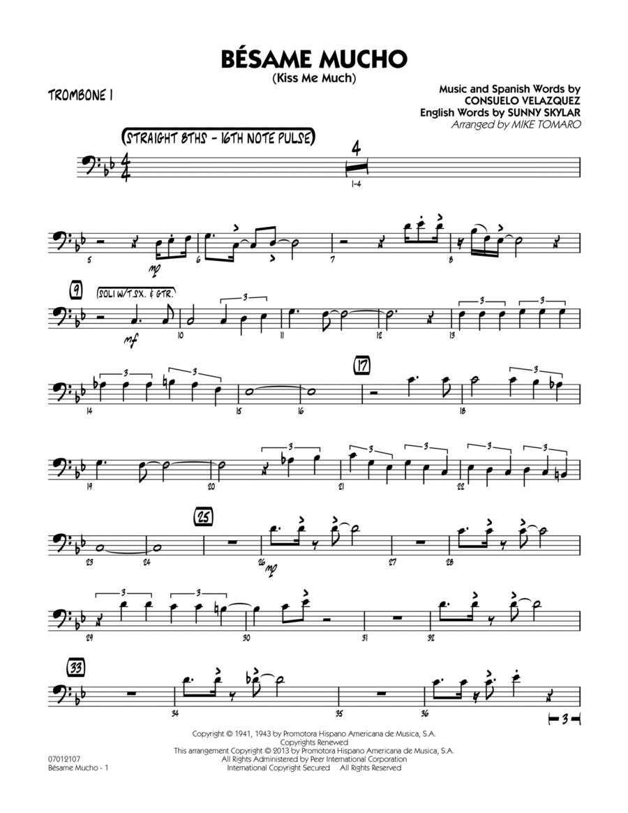 Besame Mucho (Kiss Me Much) - Trombone 1