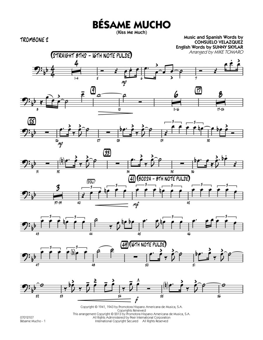 Besame Mucho (Kiss Me Much) - Trombone 2