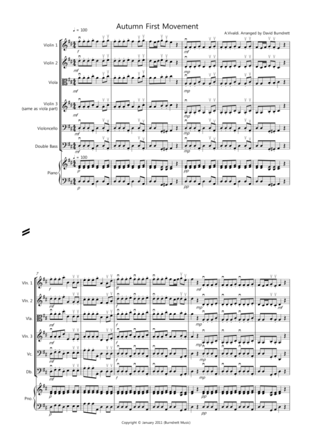 Autumn (first movement) for String Orchestra