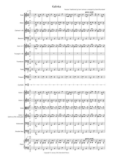 Kalinka for School Orchestra