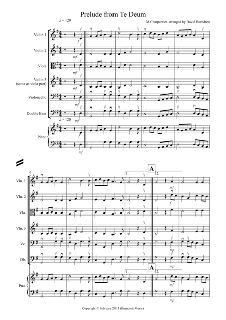Prelude from Te Deum for String Orchestra