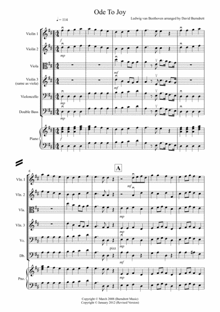 Ode To Joy for String Orchestra