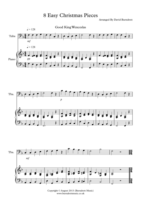 8 Christmas Pieces for Tuba and Piano