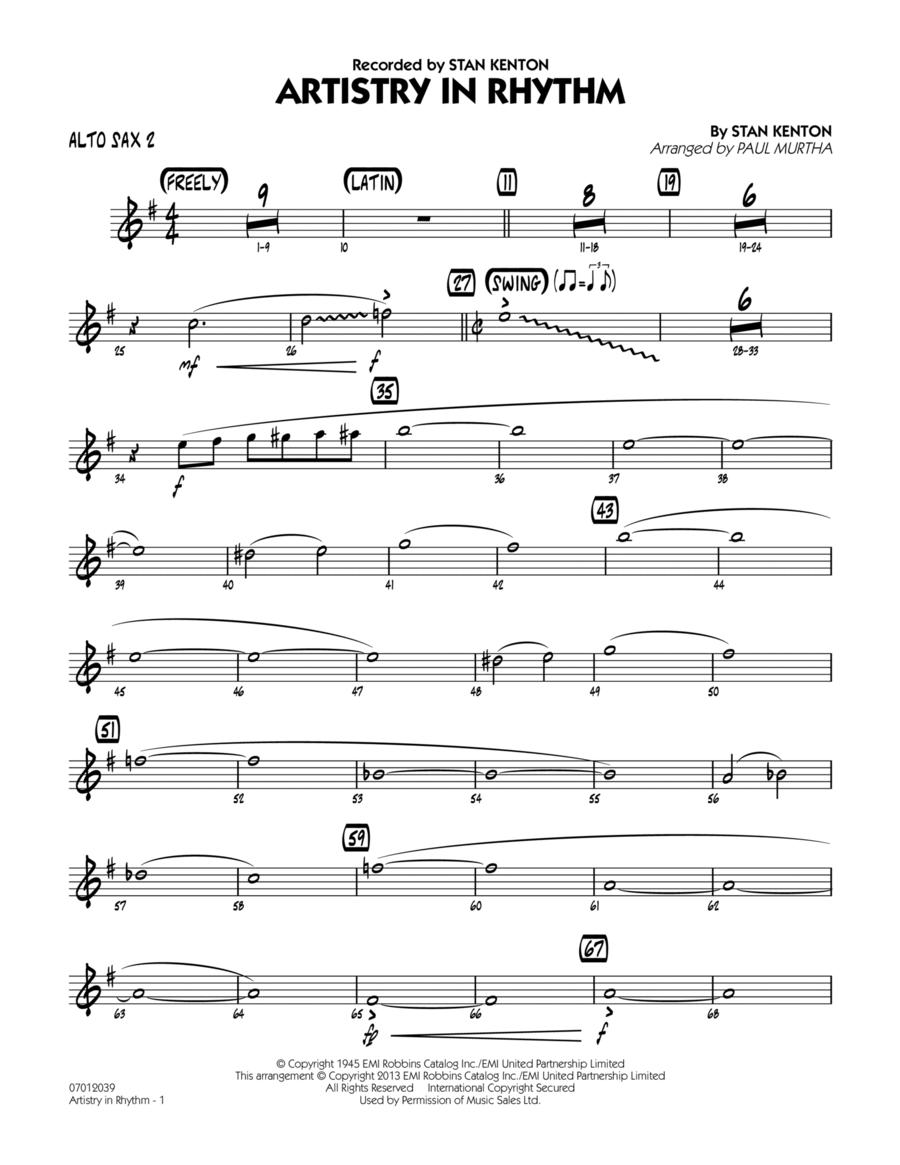 Artistry in Rhythm - Alto Sax 2