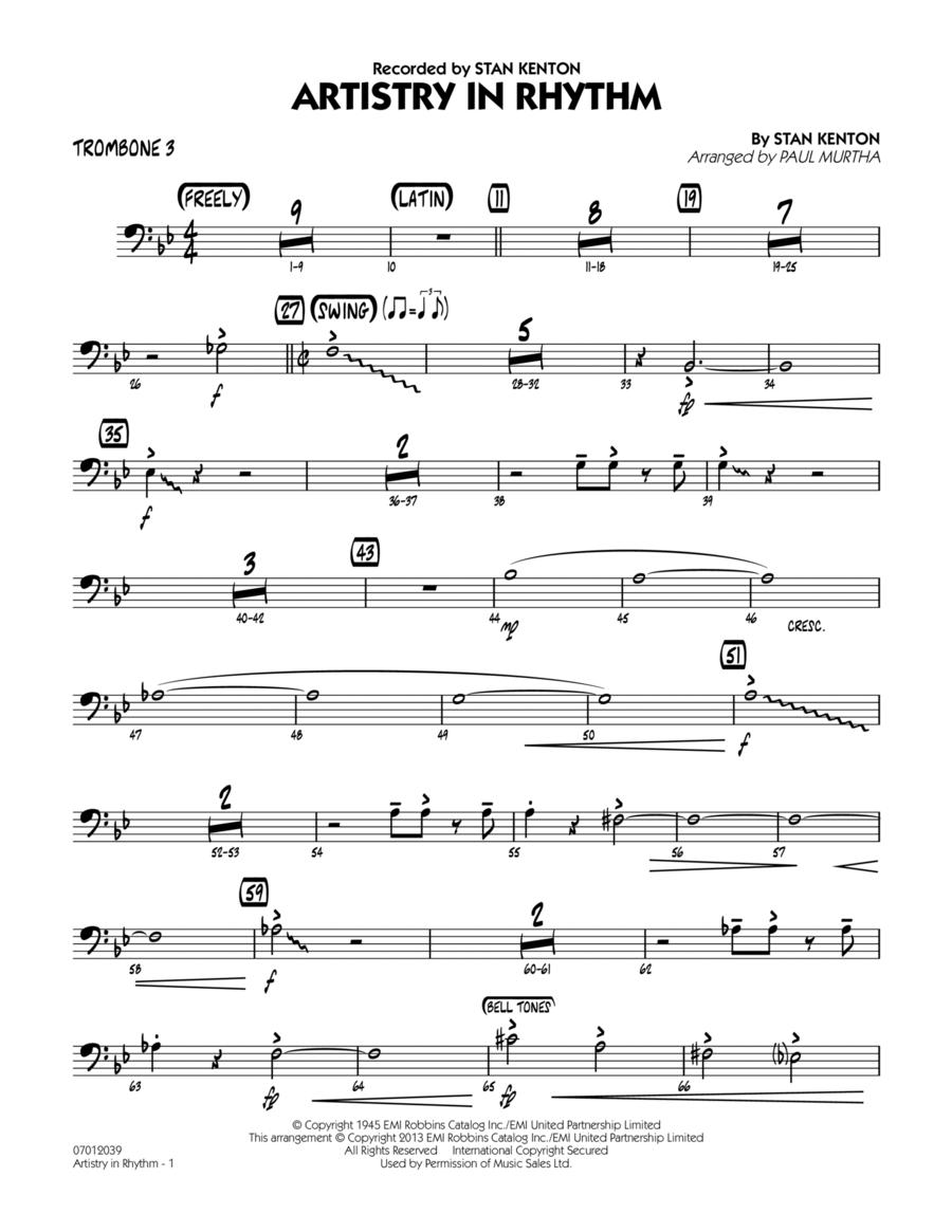 Artistry in Rhythm - Trombone 3