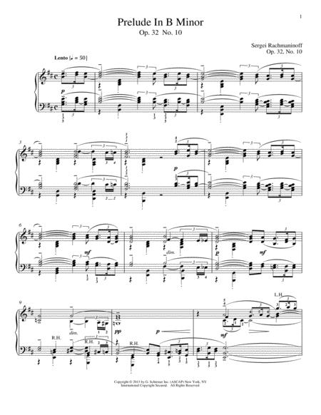 Prelude In B Minor, Op. 32, No. 10