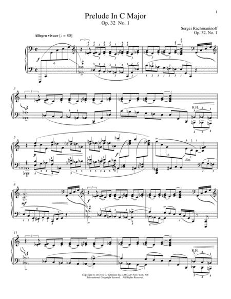 Prelude In C Major, Op. 32, No. 1