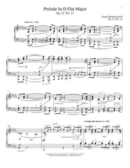 Prelude In D-Flat Major, Op. 32, No. 13