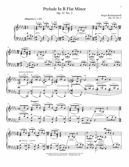 Prelude In B-Flat Minor, Op. 32, No. 2
