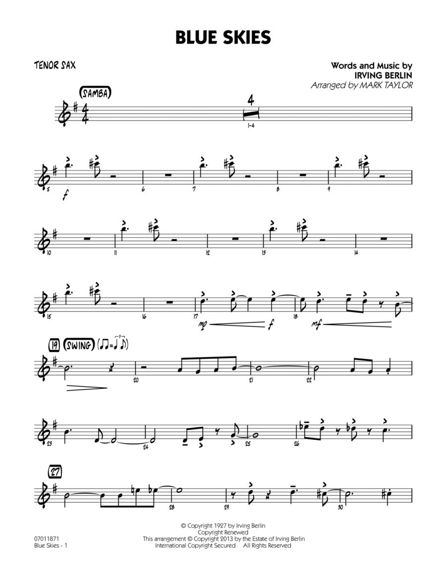Blue Skies - Tenor Sax