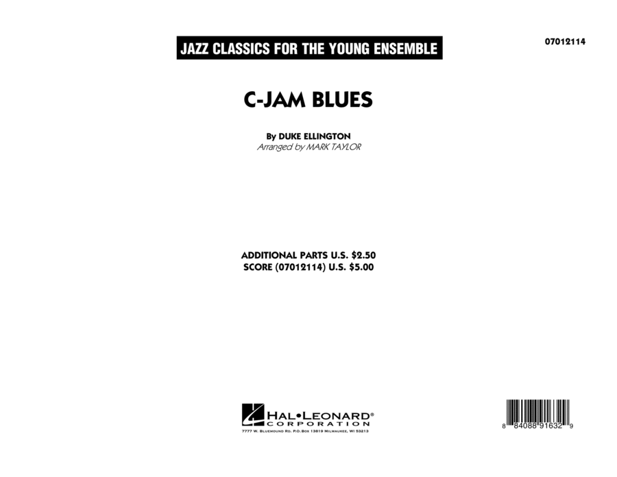 C-Jam Blues - Conductor Score (Full Score)