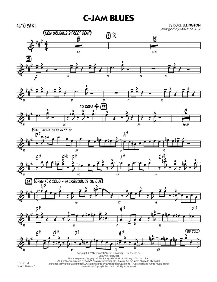 C-Jam Blues - Alto Sax 1