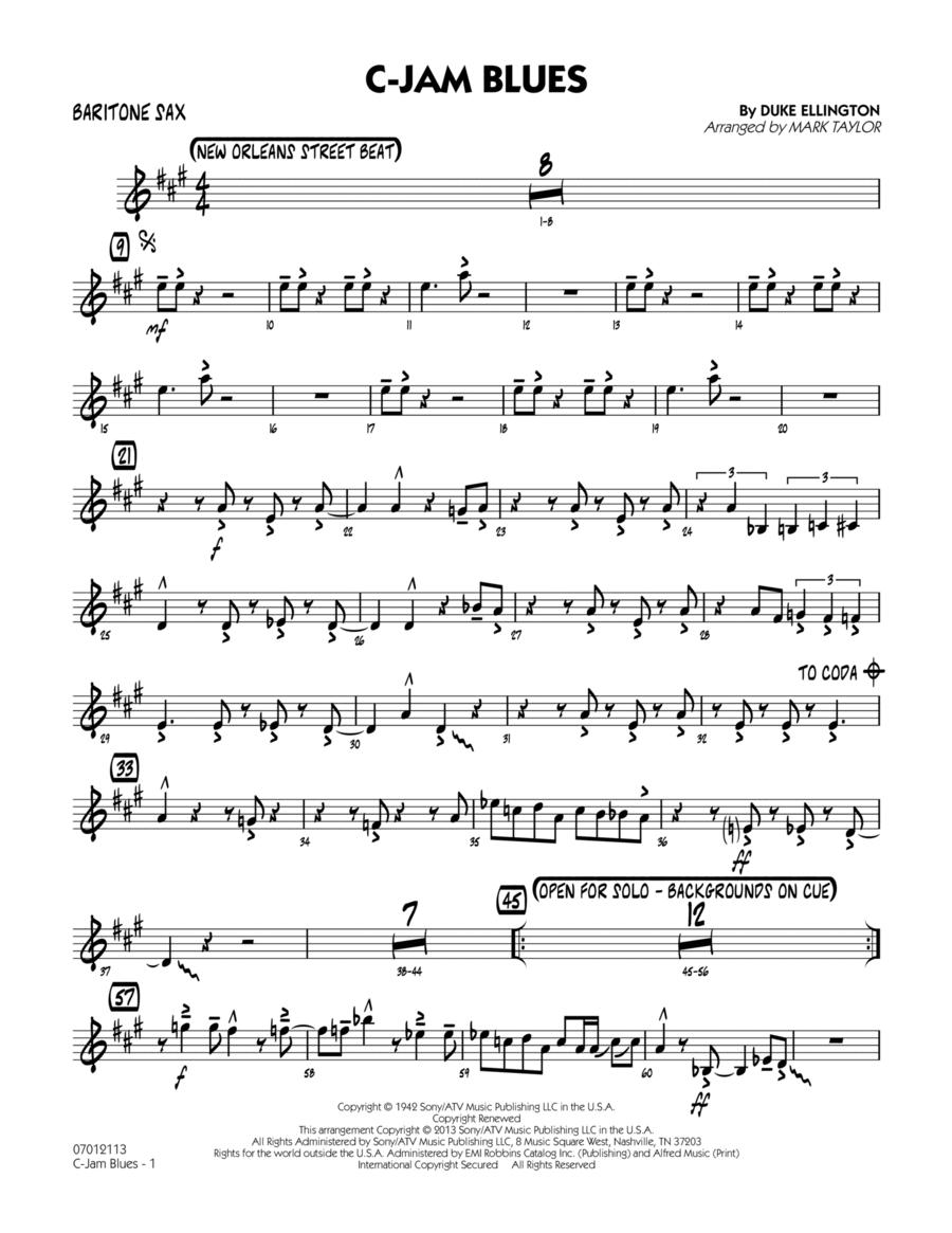 C-Jam Blues - Baritone Sax